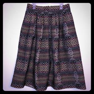 Euc Eva Mendes Maddie Pleated Circle Skirt 4